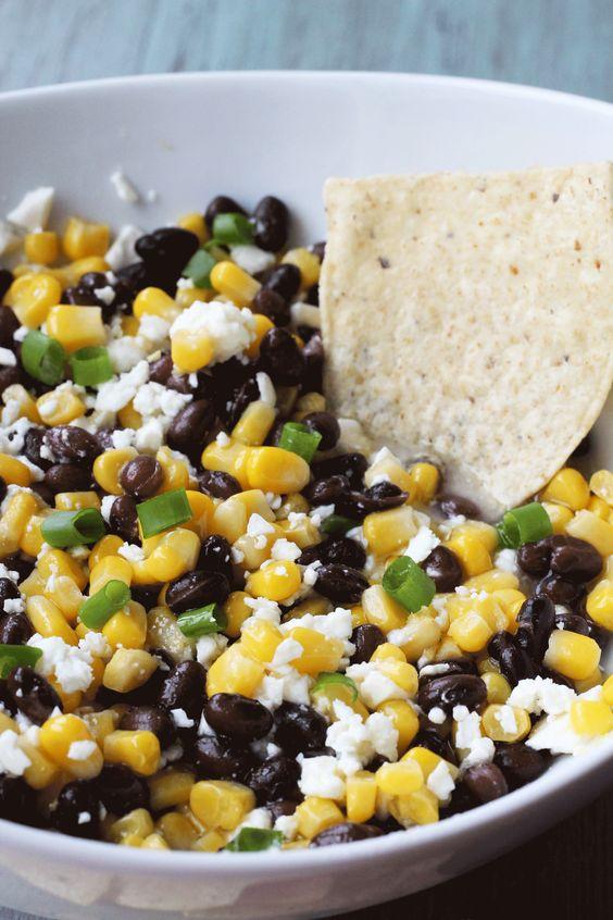 Black Bean, Corn and Feta Dip |Hall Nesting