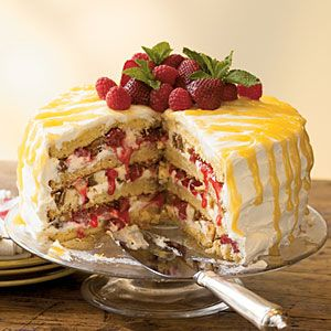 Cheesecake-Stuffed Luscious Lemon Cake from myrecipes.com