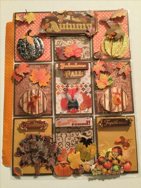 Autumn theme pocket letter created by Brittany Mitchell.