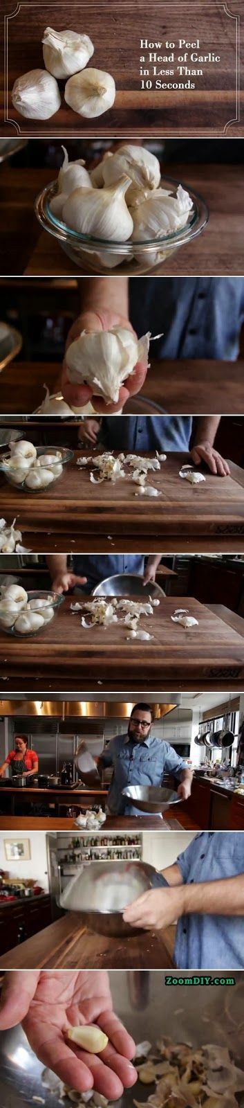 Garlic Peeling in 10 Seconds DIY