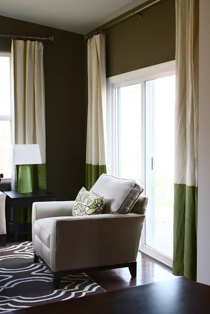 Curtains Ideas colorblock curtains : Colorblock Curtains: Adding Color Without Pattern | Färger, Kuddar ...