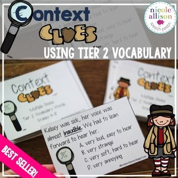 Grab your detective hats and start the Clue-Searching fun! Research tells us that teaching vocabulary word by word doesnt cut it anymore. In addition, state tests are becoming increasingly difficult for our students. We need to give our students strategies to determine unknown meanings.