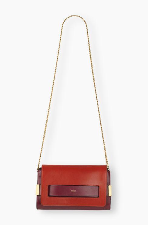 chloe handbags - ELLE CLUTCH IN NAPPA LAMBSKIN - DUSKY RED / WINE PURPLE CHLO�� ...