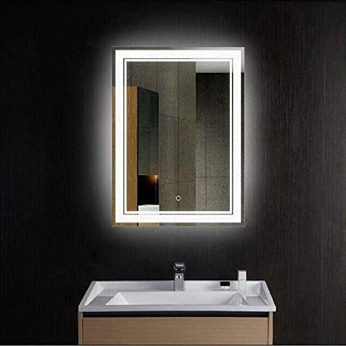New Zui Space 36 X 28 Vertical Led Lighted Modern Mirror Large Illuminated Lighted Makeup Mirror Led Wall Mounted Backlit Bathroom Vanity Mirror Touch Sensor In 2020 Small Bathroom Mirrors Led