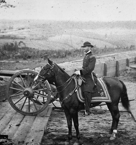 Sherman and Duke overlooking Atlanta, Autumn 1864 at Fort #7