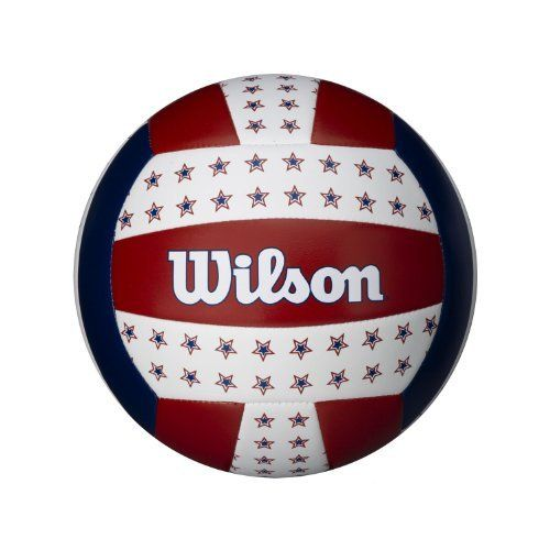 Wilson Usa Stars Red White Blue Outdoor Volleyball By Wilson Http Www Amazon Com Dp B008k8ry62 Ref Cm Sw R Pi Dp Nm Volleyballs Red And White Red White Blue