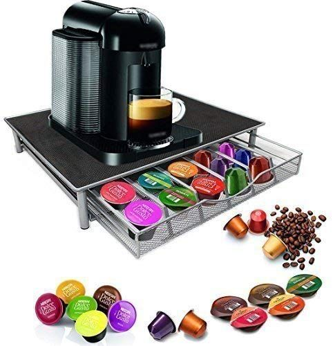 Garden Mile Dolce Gusto Coffee Pod Holder Stacking 36 Capsule Coffee Pod Storage Drawer Stainless Steel Fr Cafeteira Dolce Gusto Dolce Gusto Capsulas De Cafe