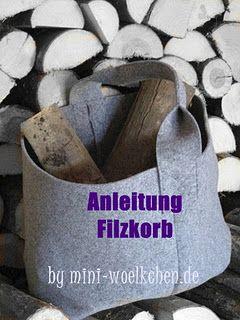 Anleitung Filzkorb