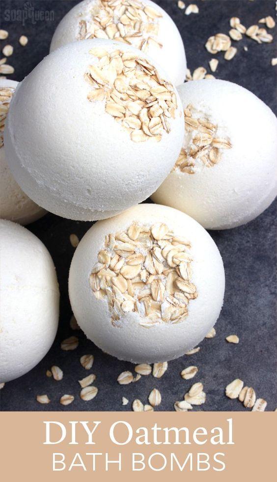 DIY Oatmeal Bath Bombs