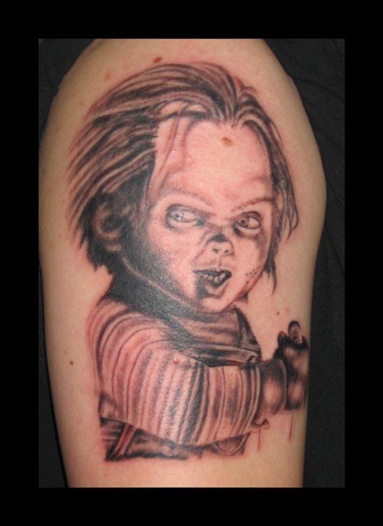 Seed of chucky tattoos chucky by sikol chucky tattoos for Bride of chucky tattoo