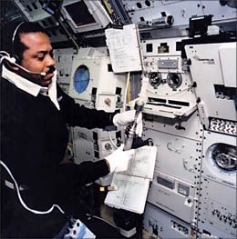 July, 29 1991, Physician Bernard A. Harris, Jr. becomes an astronaut. On February 9, 1995, he became the first African American to perform an extra-vehicular activity (spacewalk), during the second of his two Space Shuttle flights.