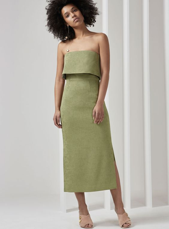 Buy Love Like This Dress - Sage | C/MEO Collective | The Birdcage ...