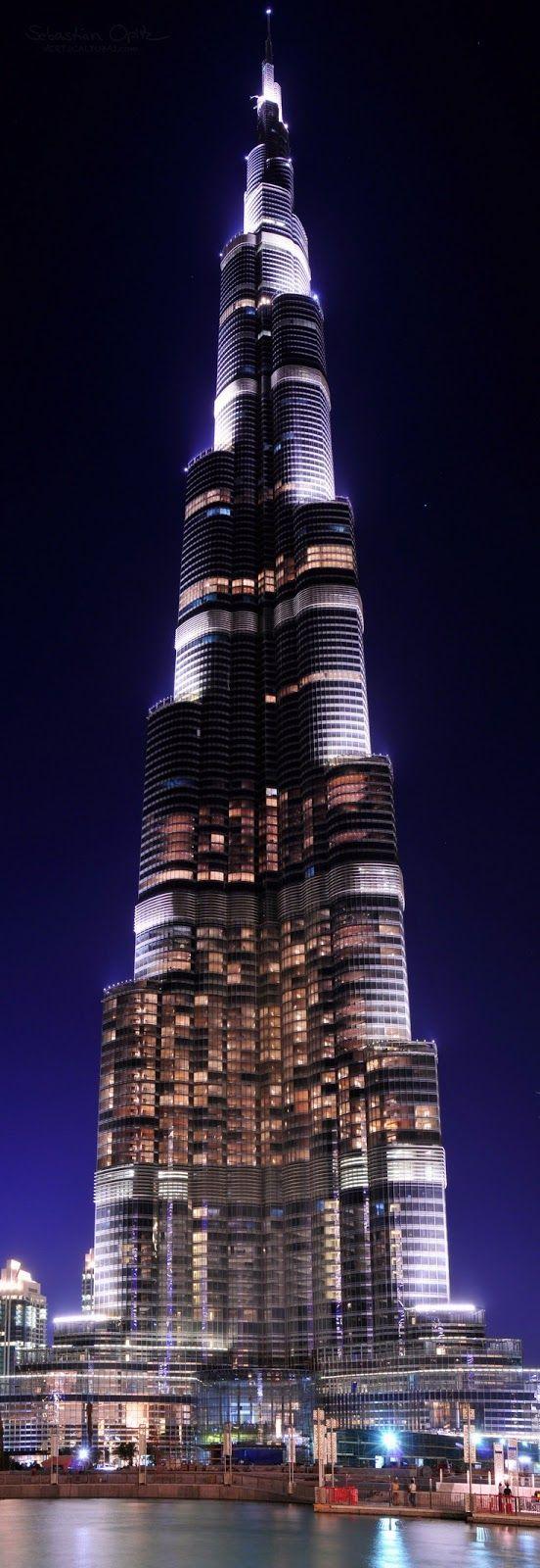 Burj Khalifa, el edificio más alto del mundo con 829,8 m #rascacielos #edificios…