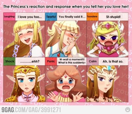 When you tell her you love her #Zelda #TheLegendOfZelda #Nintendo