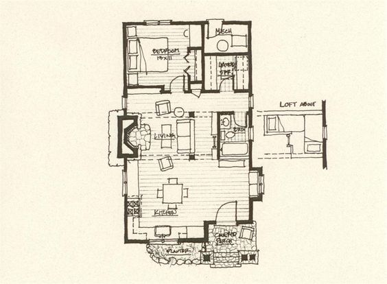Cabin plans cabin and storybook homes on pinterest for Storybook style house plans