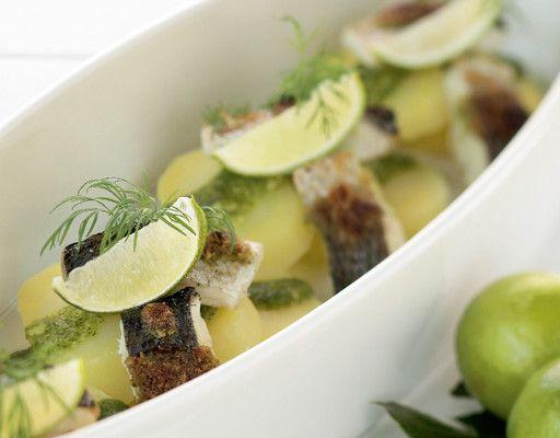 Whitefish and dill pesto potatoes, Finnish Food, June 2016