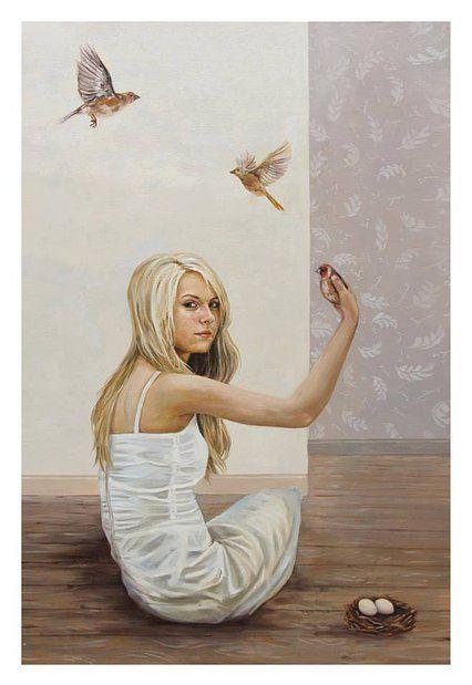 """Andrea Barreda   2013 - 2012 • """"Nido"""" Oil on canvas - 120 x 80 cm"""