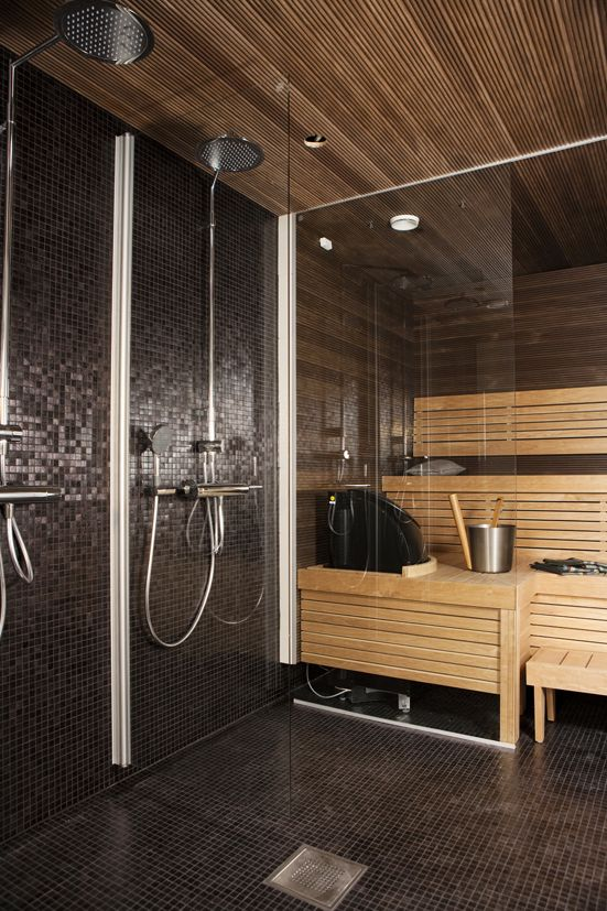 Bathroom Sauna And Steam Room: Sauna And Shower Close Together..perfect!