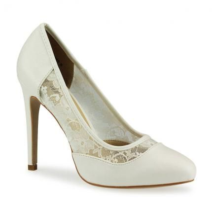 Pumps mit Spitze, günstige Alternative zu Rosie Huntington-Whiteley's Schuhen #affordable #white #lace #highheels #oscars2014 #jepo #shoes