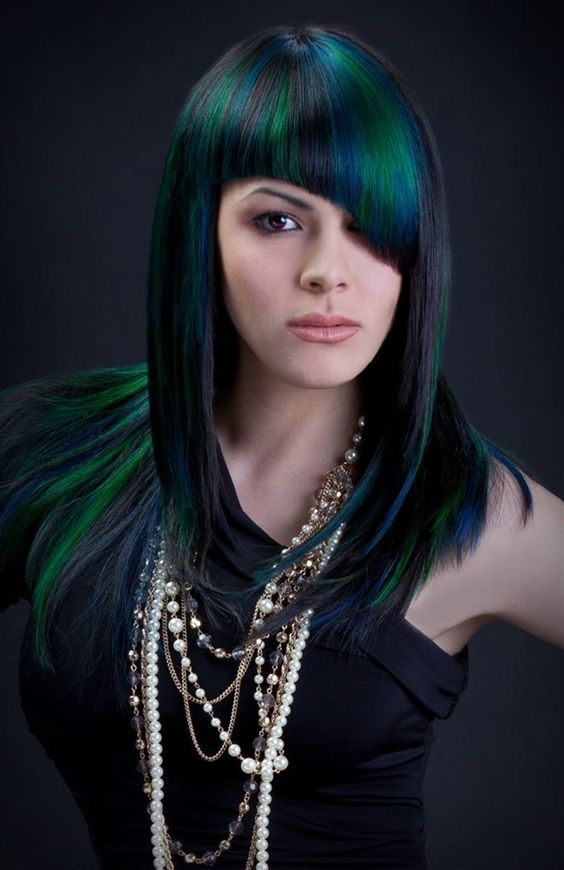 Check out the most gorgeous new hair trend for dark hair, Oilslick hair! We've put together our 10 favorite examples for you.