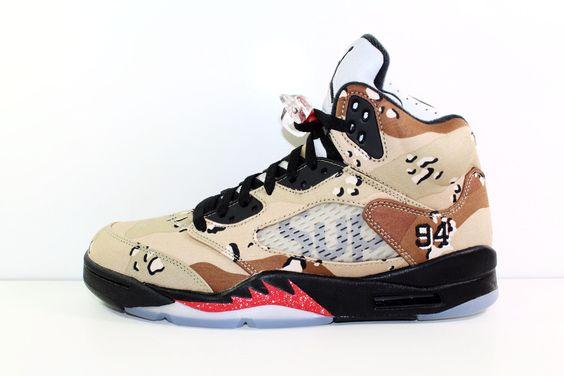 "Air Jordan 5 Retro Supreme ""CAMO"""