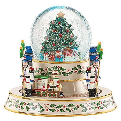 Lenox holiday train snowglobe centerpiece snow globes