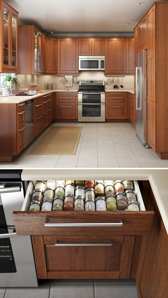 Best Cabinets Spice Drawer And Kitchen Interior On Pinterest 640 x 480