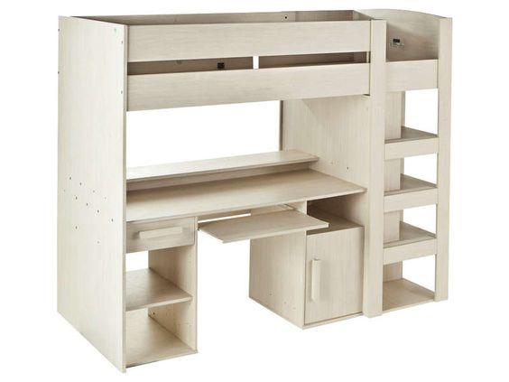 lit mezzanine 90x200 cm montana vente de lit enfant conforama - Lit Podium Conforama