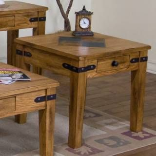 Check out the Sunny Designs 3160RO-E Sedona End Table in Rustic Oak priced at $310.00 at Homeclick.com.