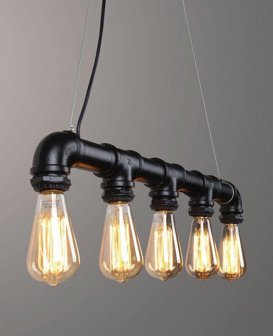 ガス管のdiyアイデア60選 Diyer S パイプランプ パイプ照明