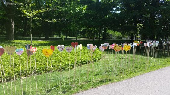 More of the heart garden at Rideau Hall. #MyReconciliationIncludes every one of these hearts. #TRC2015