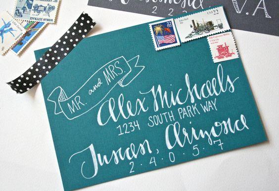 Custom Wedding Calligraphy. $2.00, via Etsy.