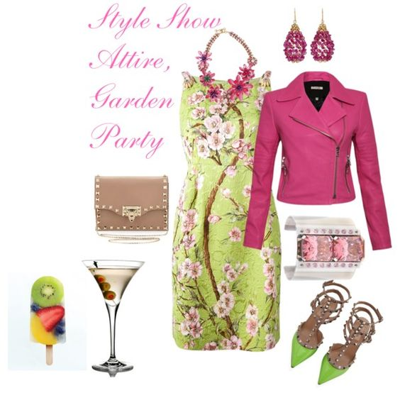 Wearing to a Poolside Fashion Show by splenderosa on Polyvore featuring Dolce&Gabbana, J Brand, Valentino, Erickson Beamon and Mallary Marks: