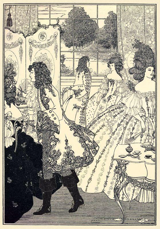 "Aubrey Beardsley ""Rape of the Lock- Snipping the Lock"" 1896 (modified)"