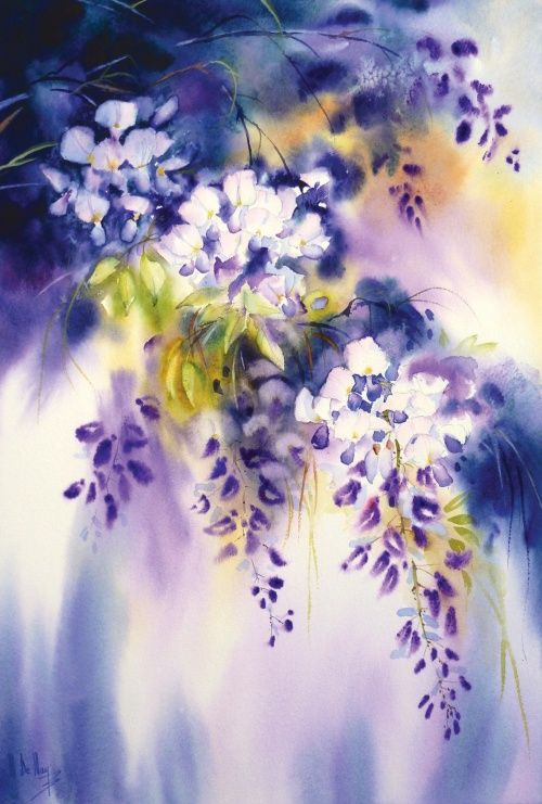Iris En 2020 Idees D Aquarelle Art Floral Aquarelle Abstraite