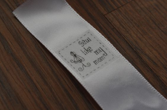 Sewing labels white satin tutorials and make your own for Sew in craft labels