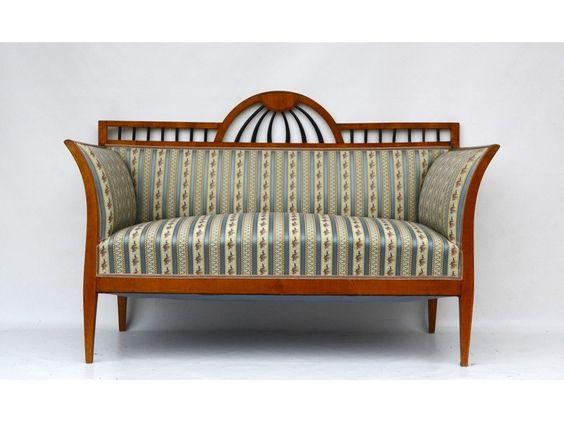 Biedermeier sofa in kirsche wien um 1830 antike m bel - Biedermeier wohnzimmer ...