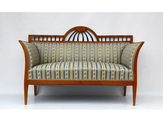 biedermeier sofa in kirsche wien um 1830 antike m bel und antiquit ten hense sofa. Black Bedroom Furniture Sets. Home Design Ideas