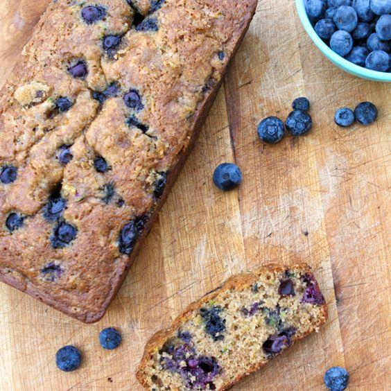 Blueberry zucchinibread