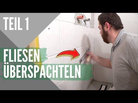 Badezimmer Fliesen Uberspachteln I Fugenloses Bad Selber Machen Youtube In 2020 Fugenloses Bad Badezimmer Fliesen Badezimmer