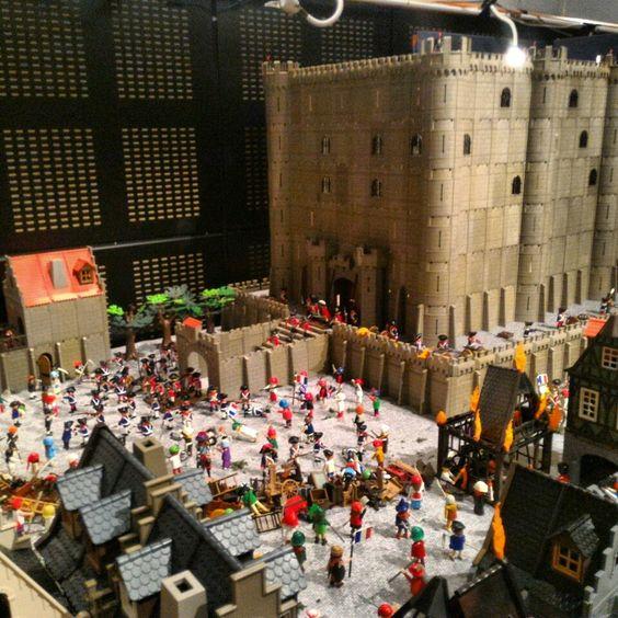 prise de la bastille en playmobil lors de l'exposition histoire à franconville