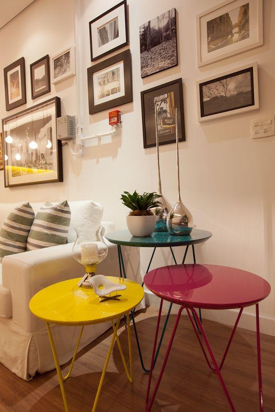 Mesas laterais na decoração: