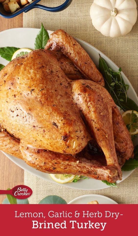 Dry-brining is a foolproof method that gives you tender, flavorful turkey every time. This recipe, infused with the flavors of garlic, lemon and thyme, is guaranteed to get raves as the centerpiece on your holiday table.