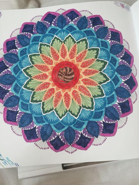 Giant Flower from Millie Marotta's Animal Kingdom Colouring Book