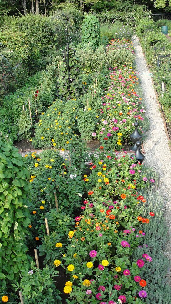 Photo by Oscar de la Renta of his gardens in Kent, Connecticut. - cutting garden: