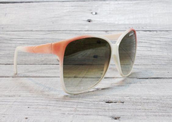 Rare Retro Eyeglasses Adidas, Pink and White Glasses / Vintage Eyeglass from 1980s / Retro Style / Made in Austria / EU Seller