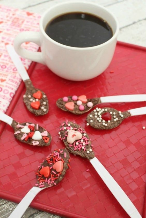 Valentine's Day Hot Chocolate Spoons