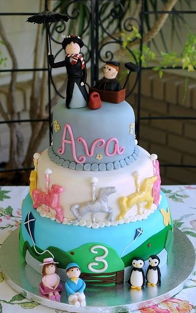 Mary Poppins Girls 3rd Birthday And Cakes On Pinterest