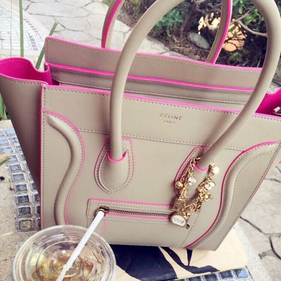 celine shoes and bags - Gorgeous Celine Micro Luggage w/Pink Lining?? | Fushia Pink, Grey ...