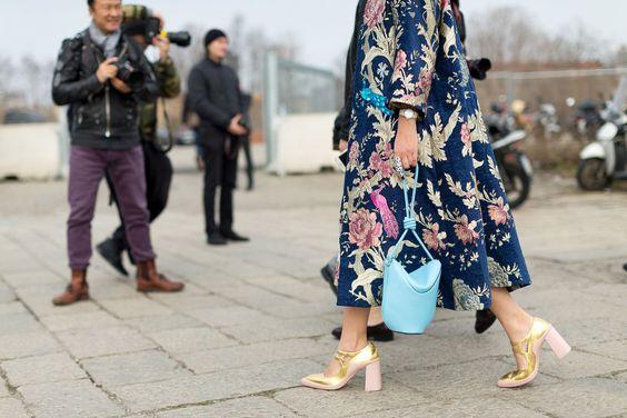 Long floral jacket: